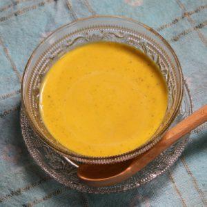 かぼちゃと豆乳の冷製スープ ~ココナッツ風味~