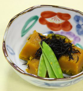 南瓜とひじきの煮物