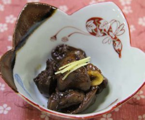 鶏レバーの黒糖甘辛煮