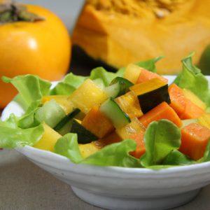 柿とかぼちゃのチョップドサラダ