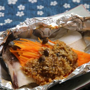 ぶりの味噌マヨホイル焼き